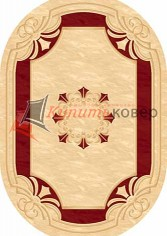 KAMEA CARVING 5333 CREAM-RED oval