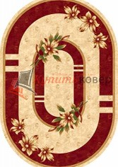 KAMEA CARVING d048 CREAM-RED oval